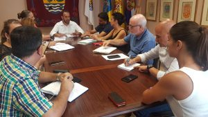 Encuentro director general de Derechos Sociales, Jonás González, con ayuntamientos