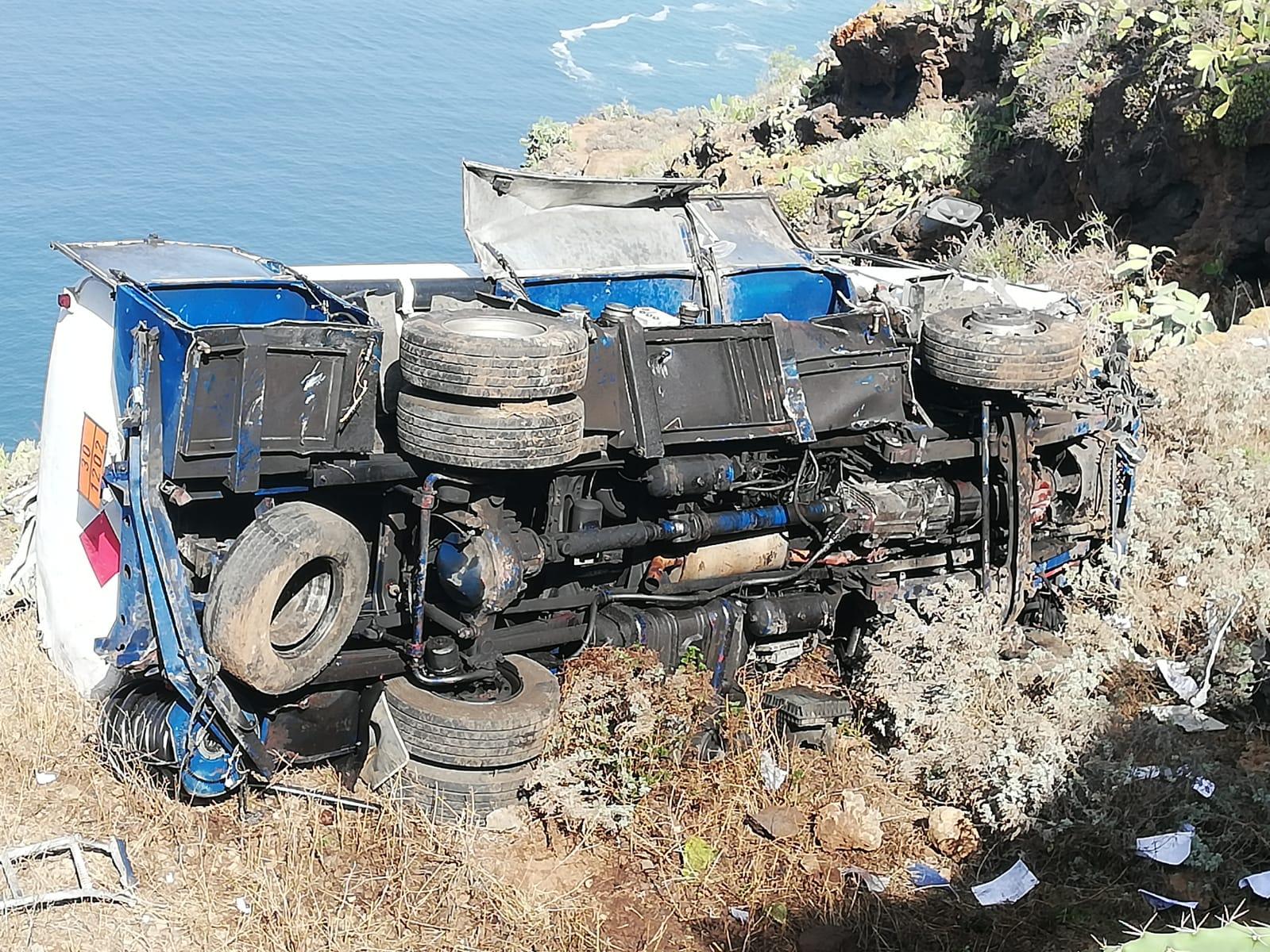 Accidente de camión en Tacoronte, Tenerife