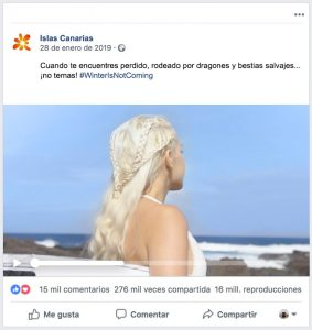 Imagen de la campaña Winter is not coming