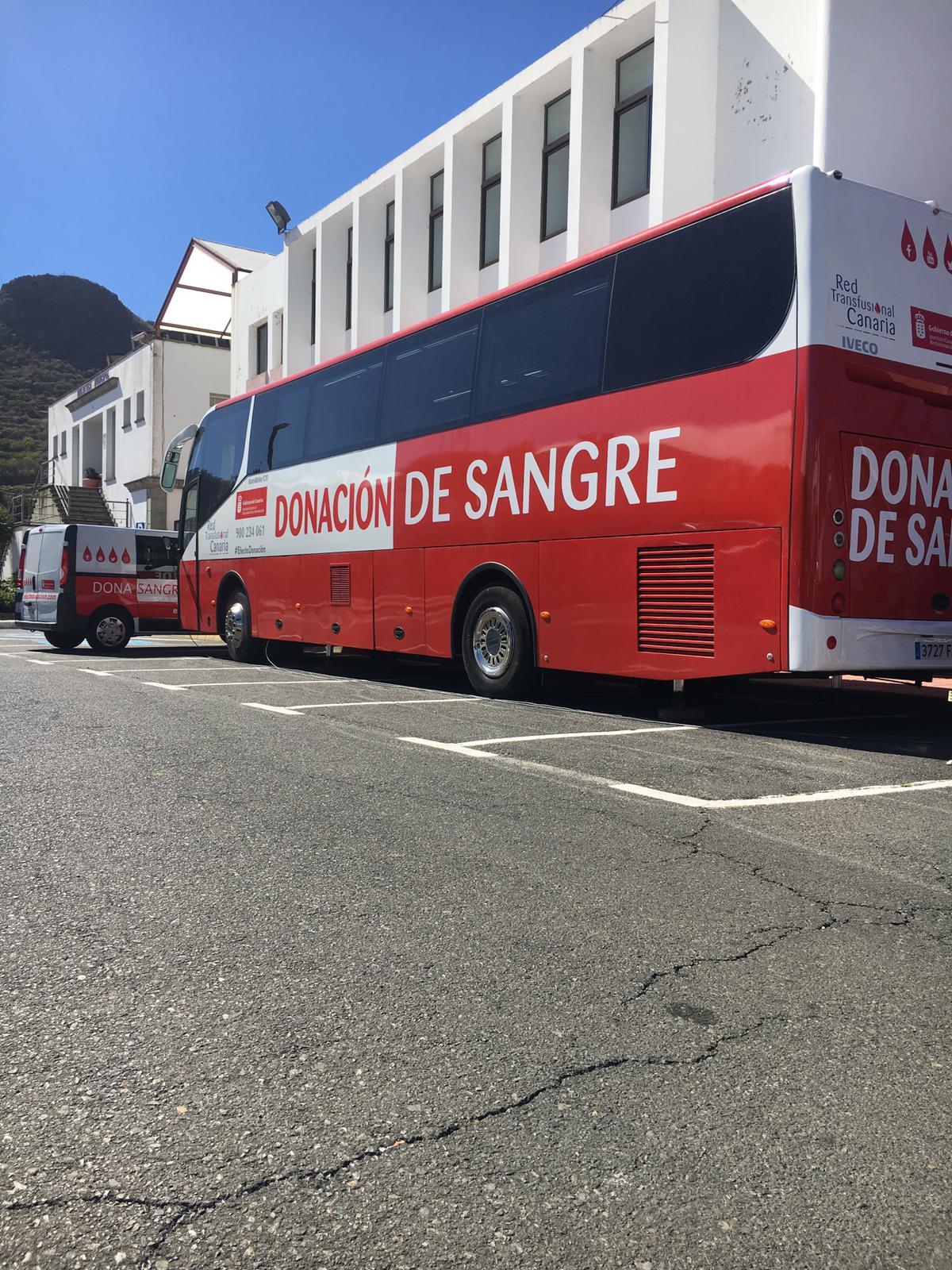 Unidad móvil de donación en San Mateo