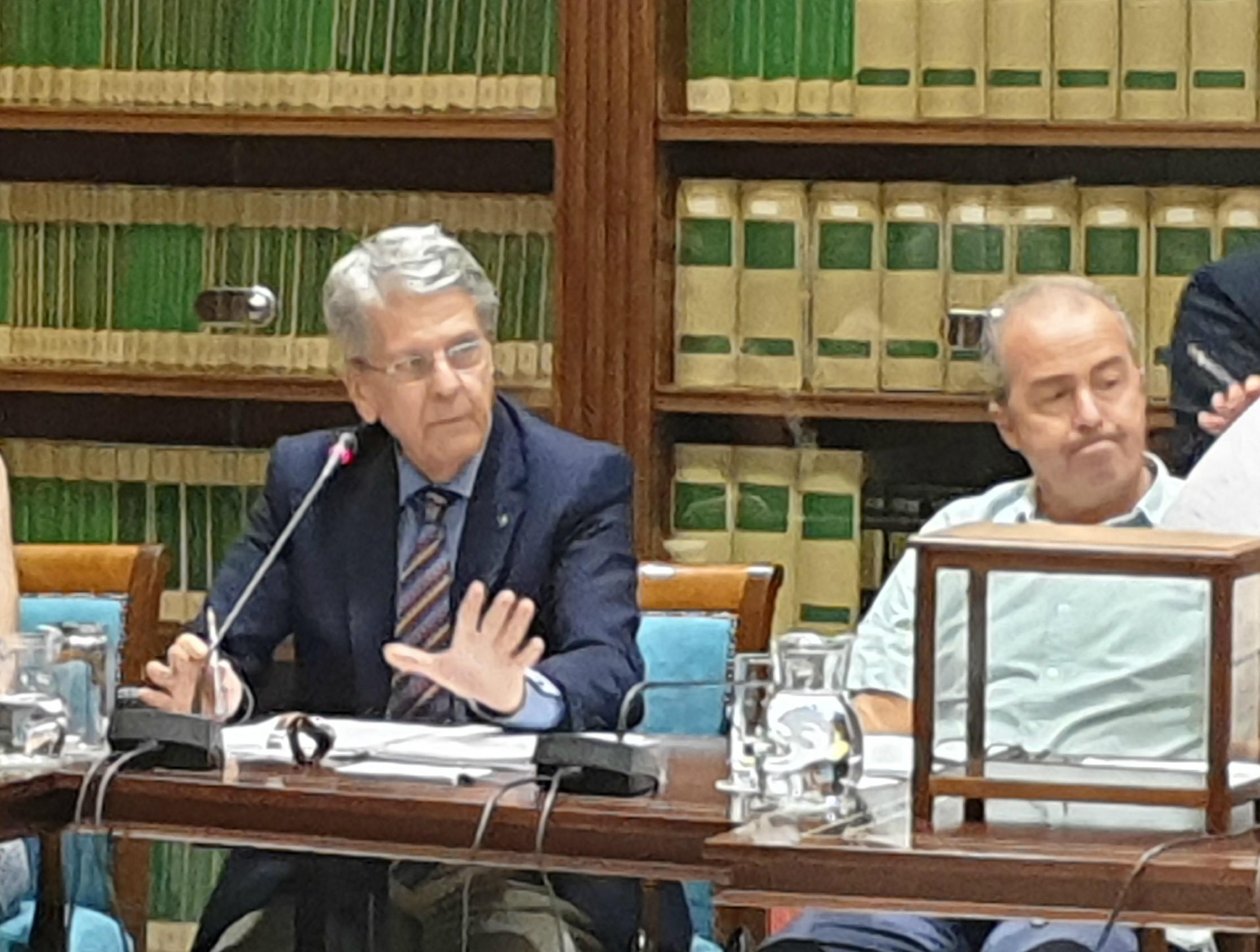 El consejero Julio Pérez en comisión parlamentaria