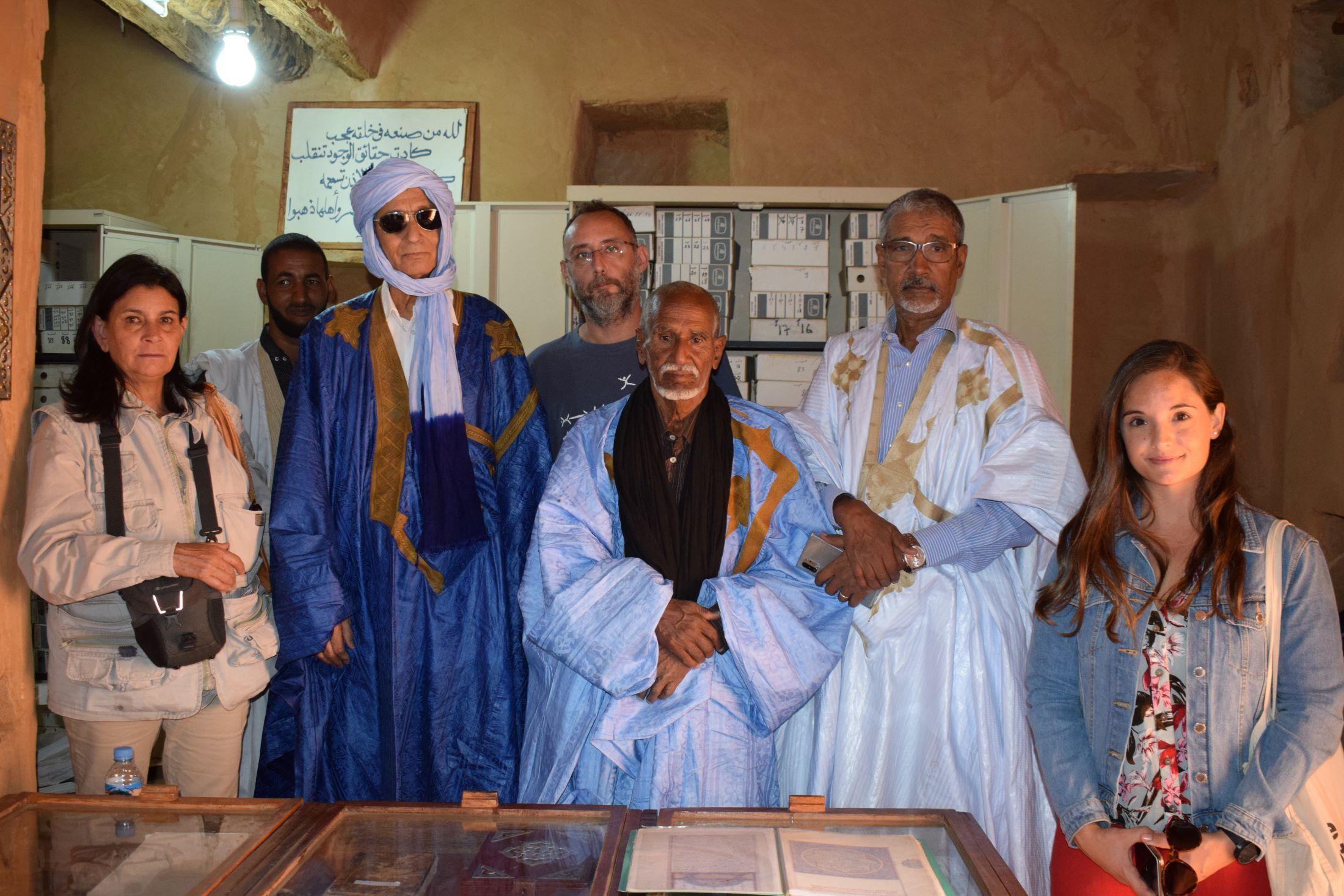 Patrimonio Cultural rastrea la huella canaria en las Bibliotecas Antiguas de Chinguetti
