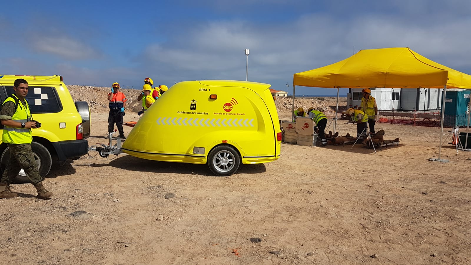 El SUC refuerza el equipamiento en Fuerteventura con un remolque de catástrofes para la atención de emergencias