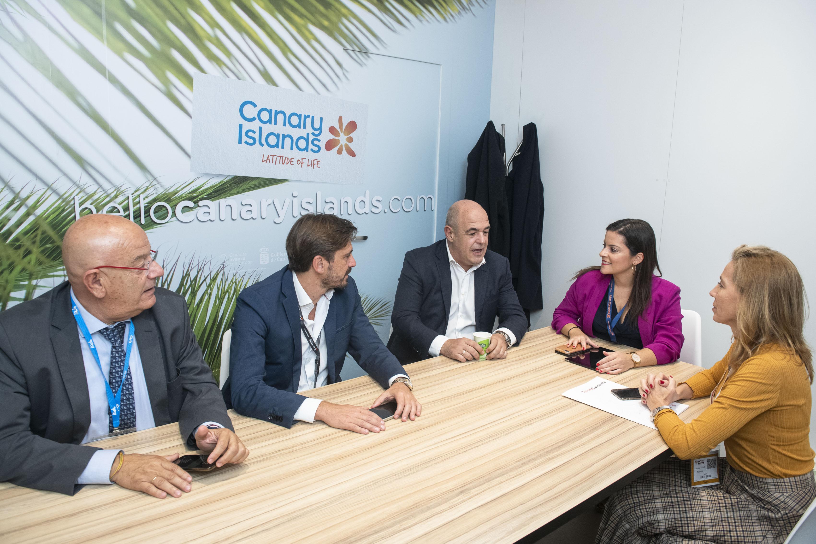 Reunión patronales con Yaiza Castilla en Londres