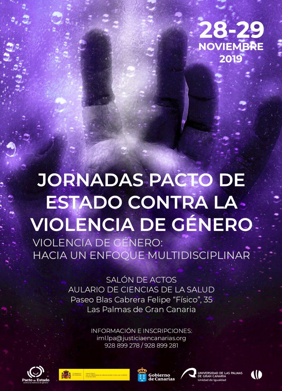 Justicia organiza las jornadas pacto estado contra la violencia de género