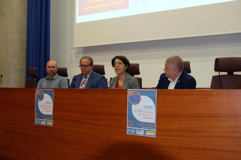 Sylvia Jaén en el Seminario Pilar Europea de Derechos Sociales