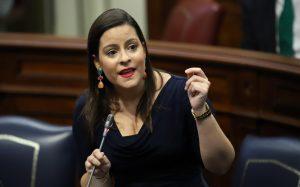 Yaiza Castilla este martes en el Parlamento