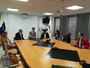 Visita del embajador del Reino Unido a las instalaciones del 1-1-2 Canarias en Tenerife