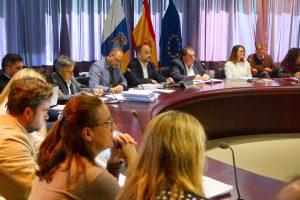 Momento de la reunión sobre residuos
