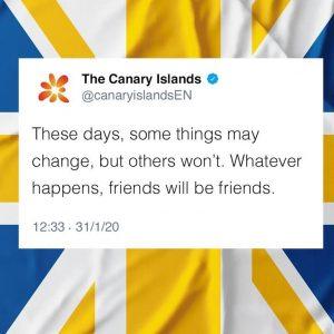 Canarias apela estos días al vínculo emocional con Reino Unido.