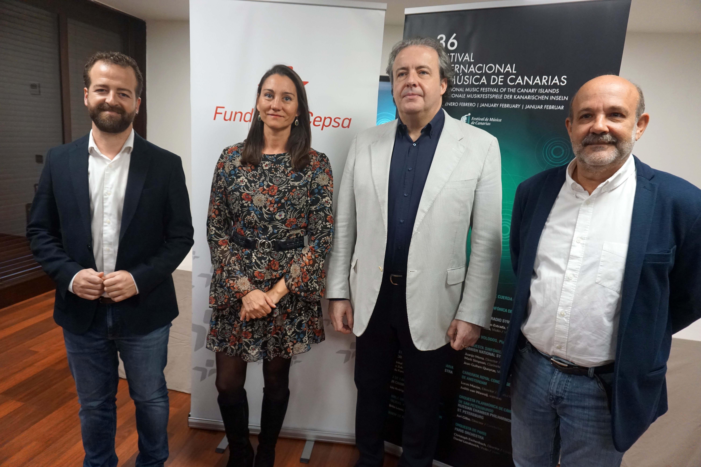 De izda a dcha Juan Márquez, Belén Machado, Juanjo Mena y Jorge Perdigón