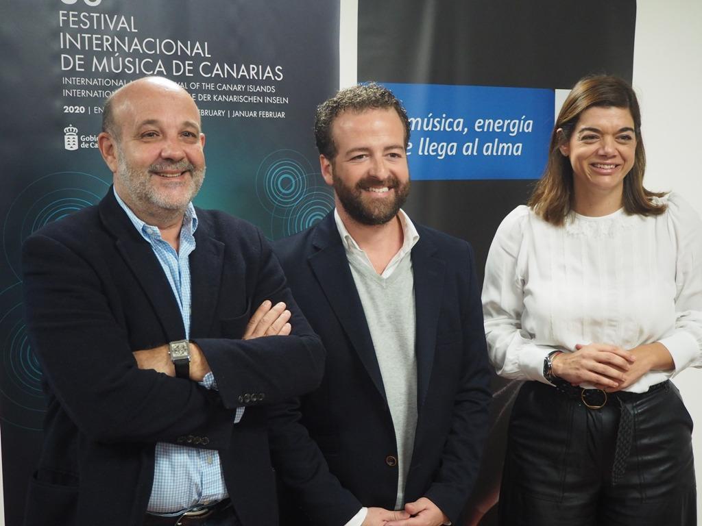 De izq a dcha Jorge Perdigón, Juan Márquez y Sara Mateos