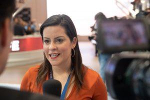 Yaiza Castilla atiende a los medios en Fitur 2020