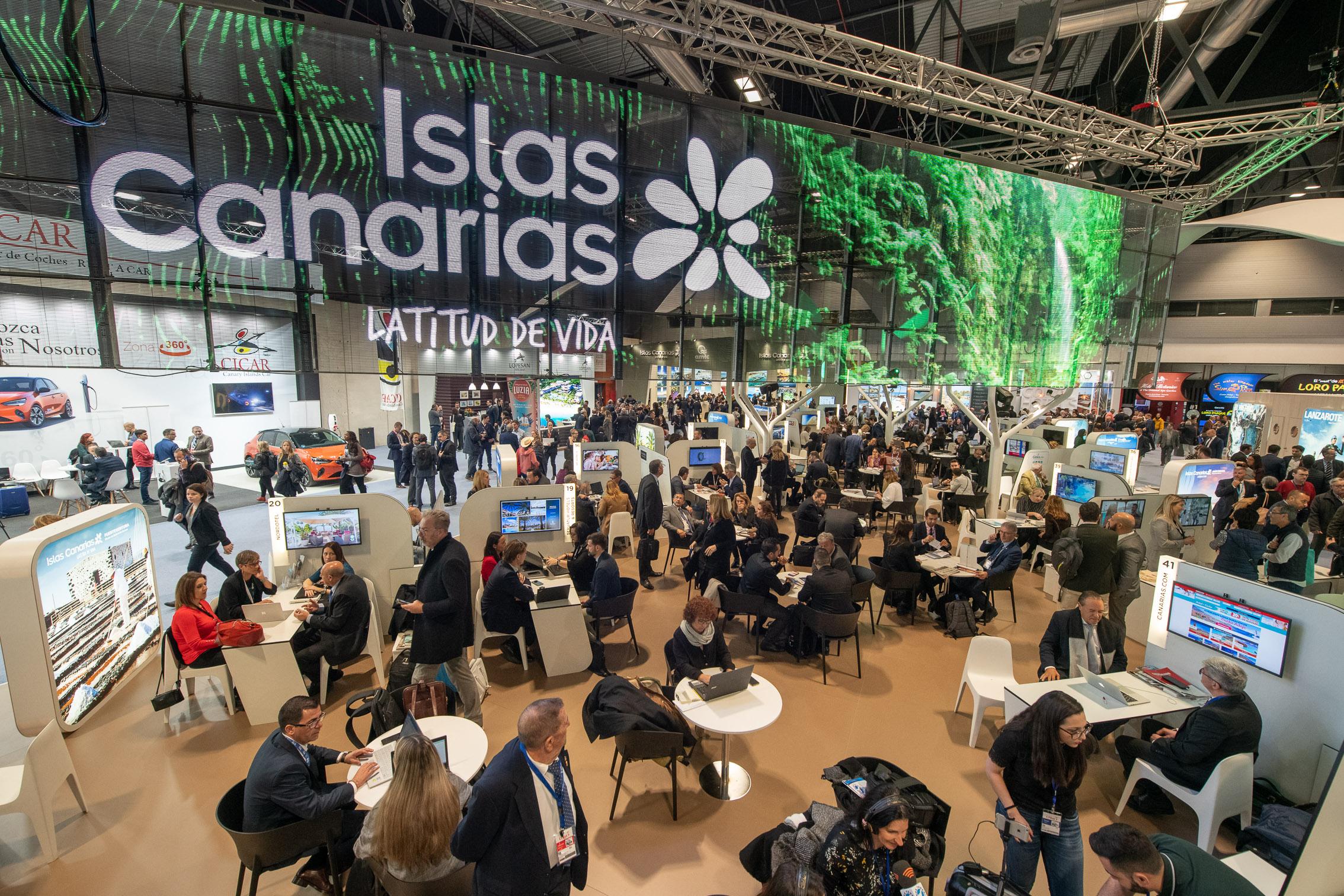 El pabellón de Canarias en Fitur ha sido una gran plataforma de trabajo para el sector