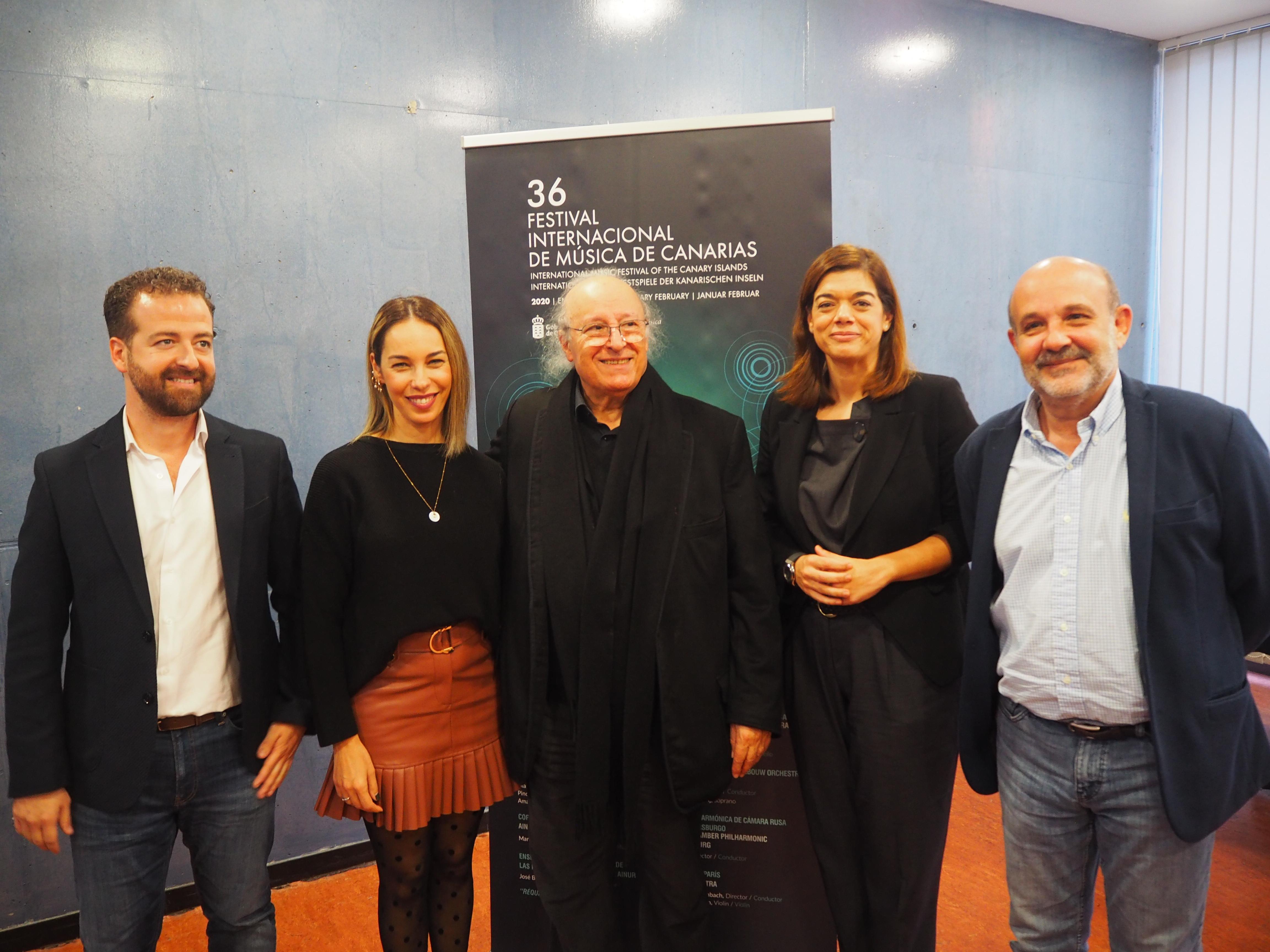 Inbal (centro) con Márquez, Medina, Mateos y Perdigón