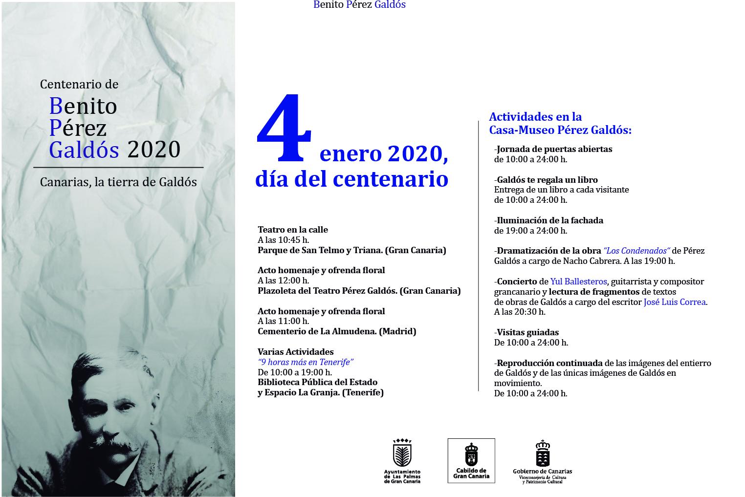 Actividades programadas para el 4 de enero de 2020