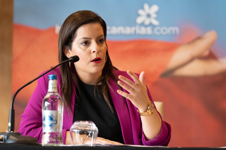 Yaiza Castilla presentando las campañas
