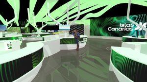Infografía del Pabellón de Canarias en Fitur 2020