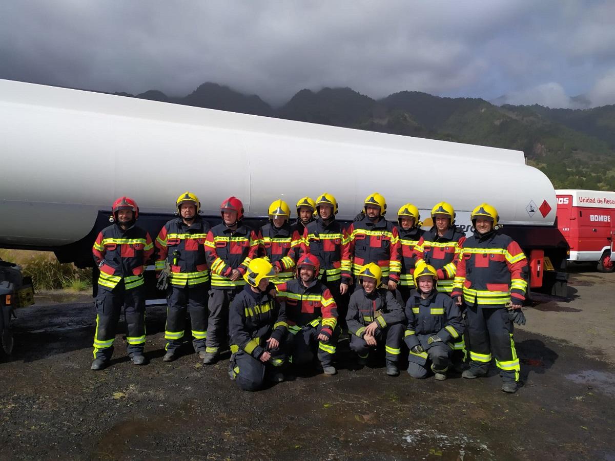 Grupo de bomberos de La Palma