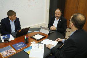 Momento de la reunión con la ULGPC
