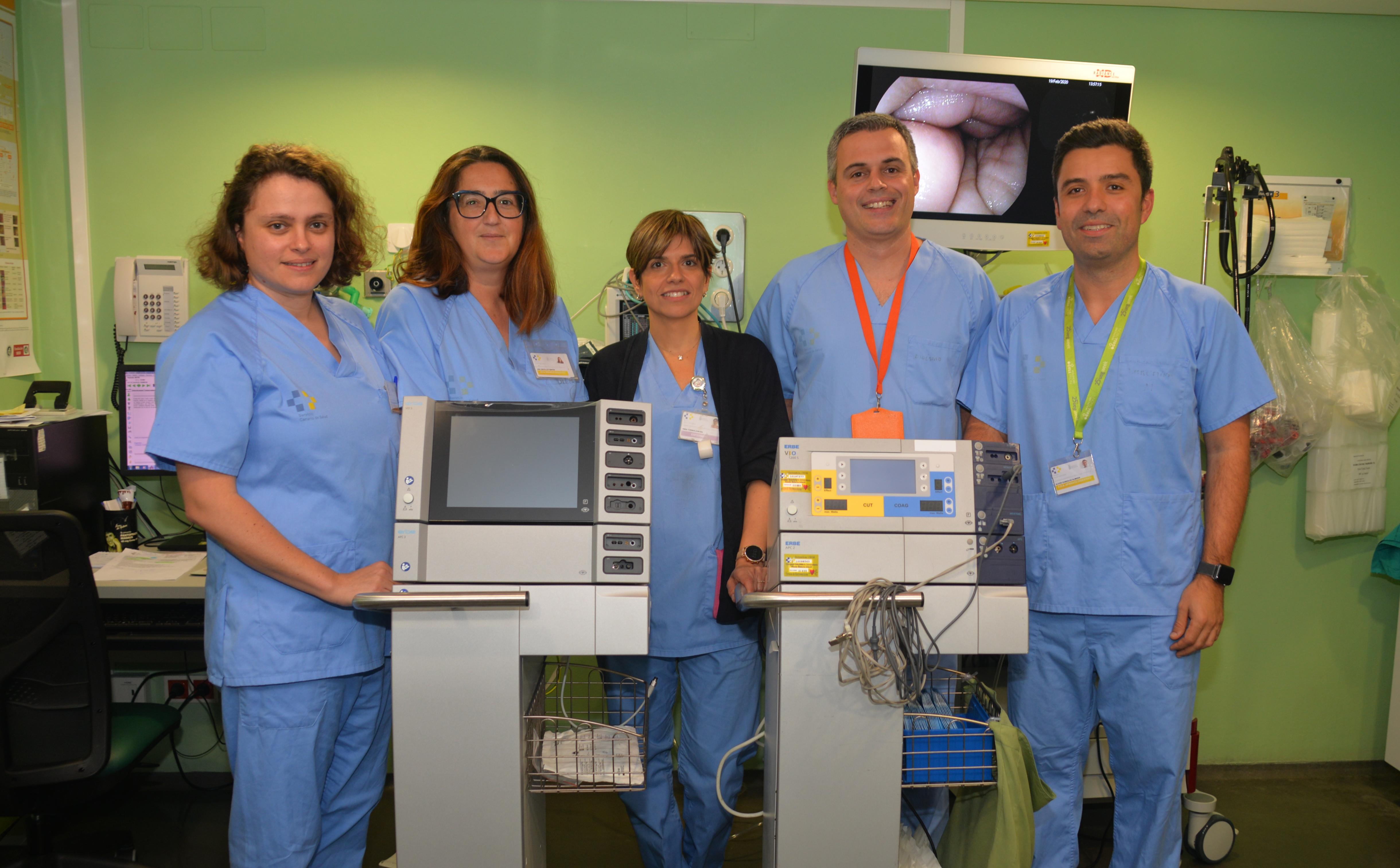 El Hospital Insular aplica una nueva técnica endoscópica para extirpar tumores del tracto digestivo