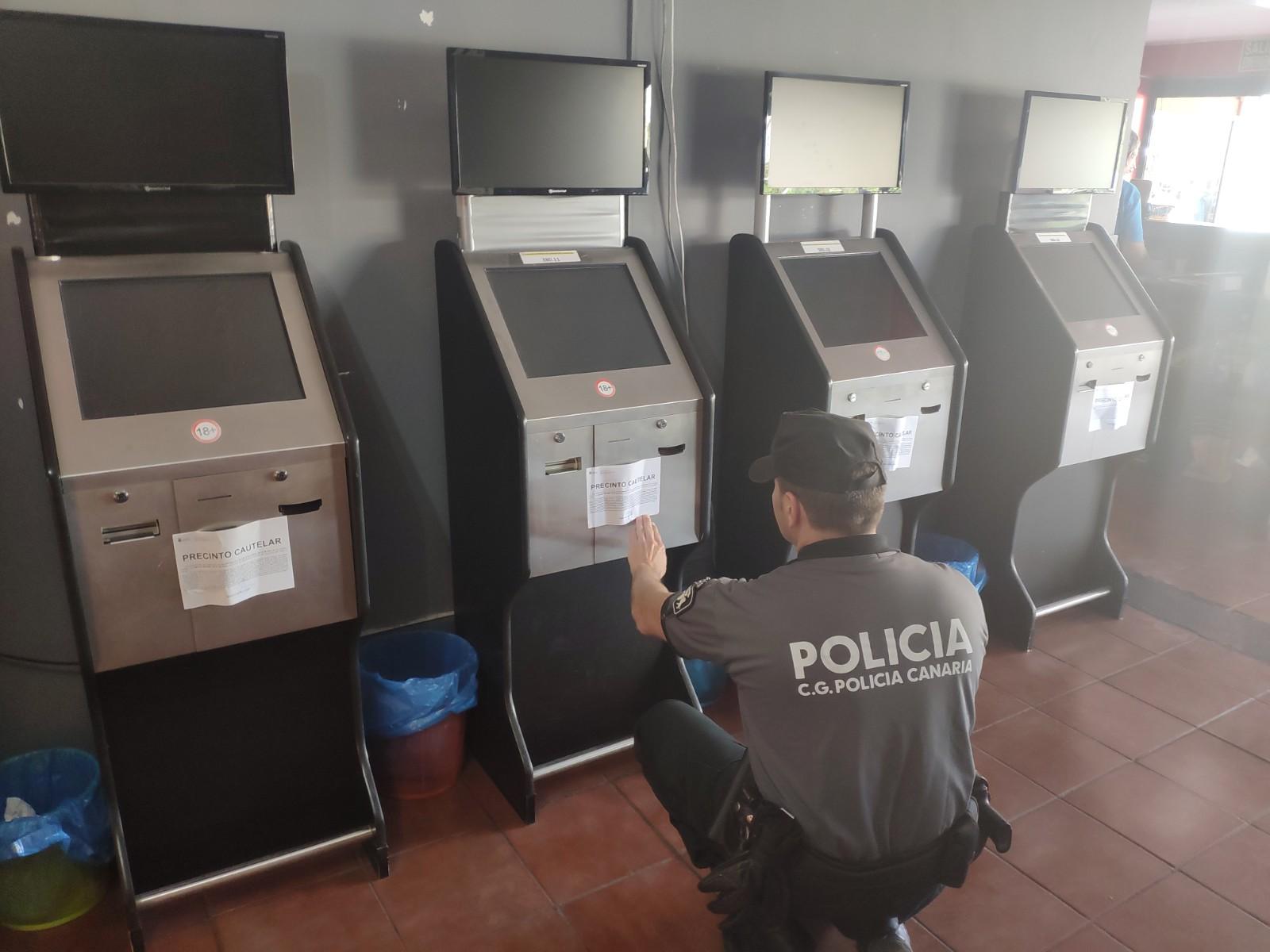 Precinto de máquinas en local de apuesta de Gran Canaria