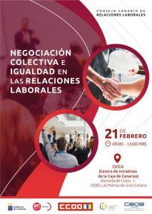 Cartel de la jornada sobre negociación colectiva e igualdad.