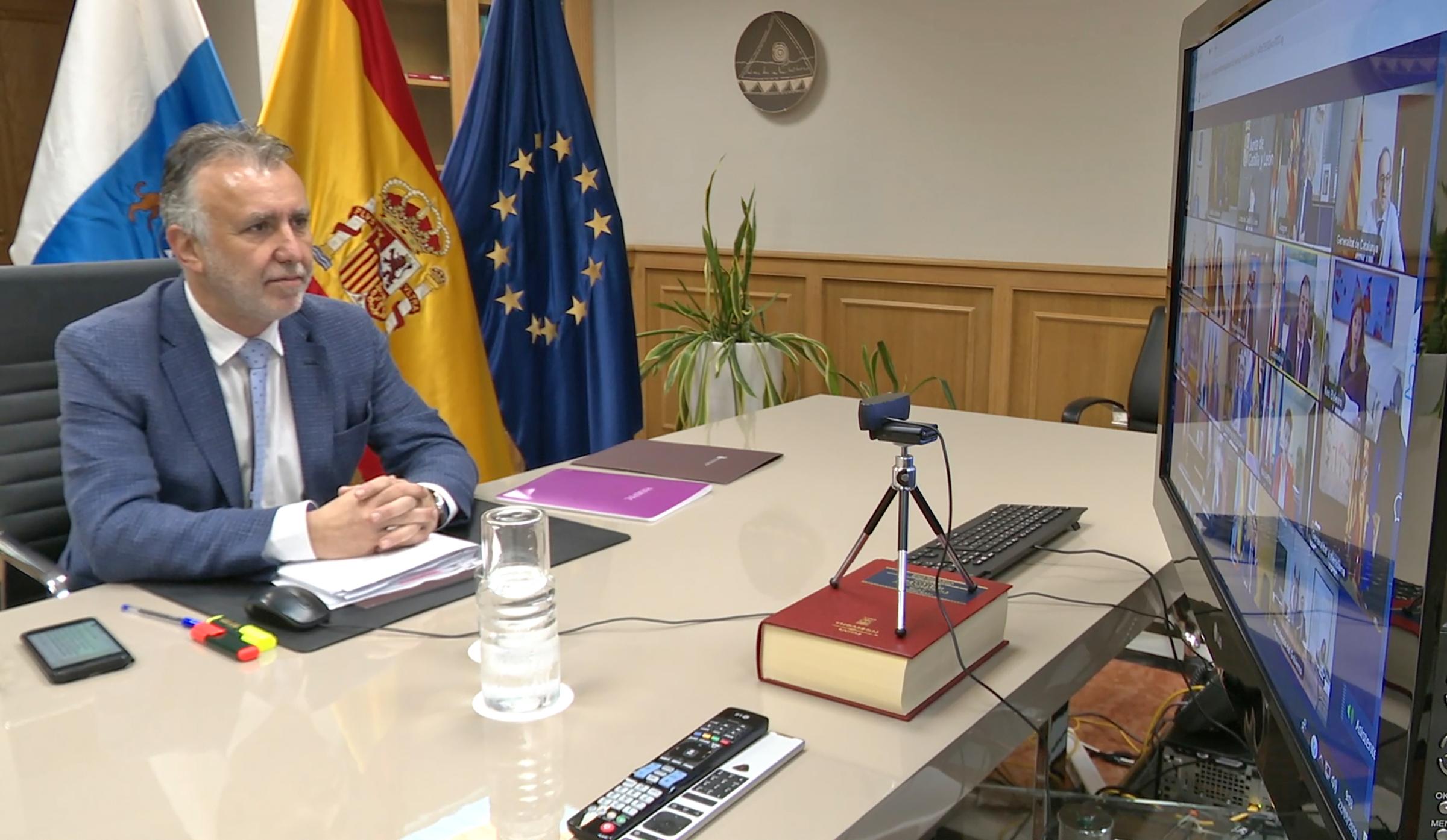 Videoconferencia presidentes autonómicos