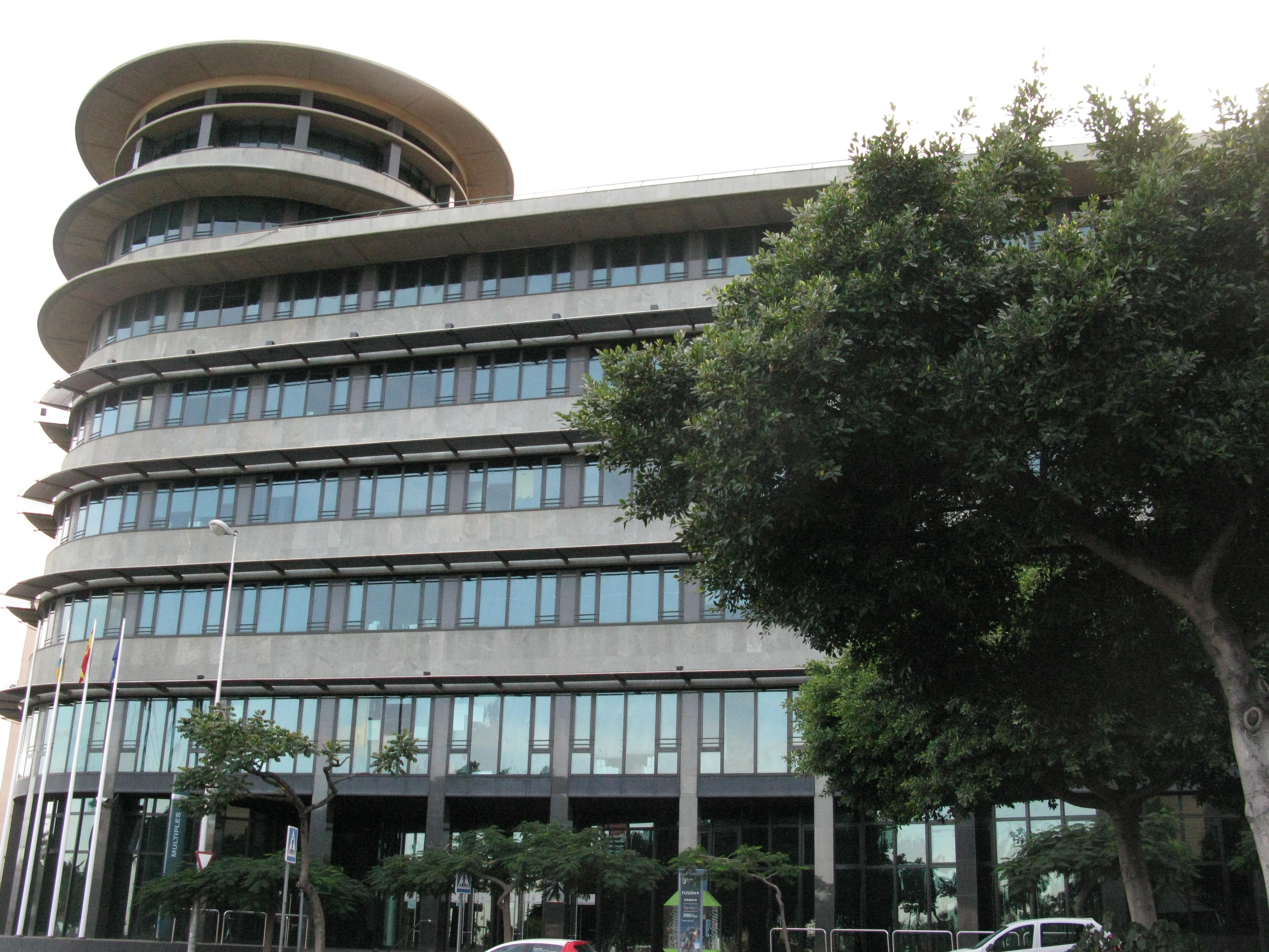 Edificio Múltiples II de Santa Cruz de Tenerife, una de las sedes del Gobierno de Canarias