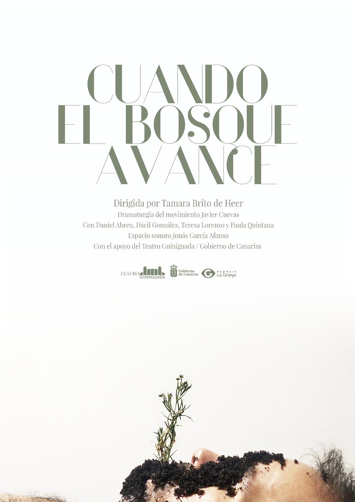 Cartel de la pieza audiovisual 'Cuando el bosque avance'