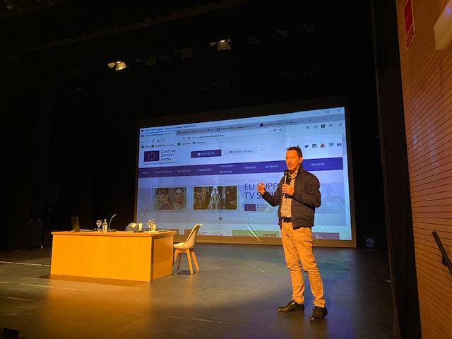 Peter Andermatt durante la charla que ofreció recientemente en Canarias