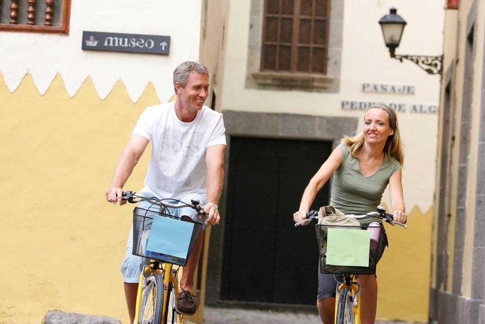 Excursionistas en Canarias