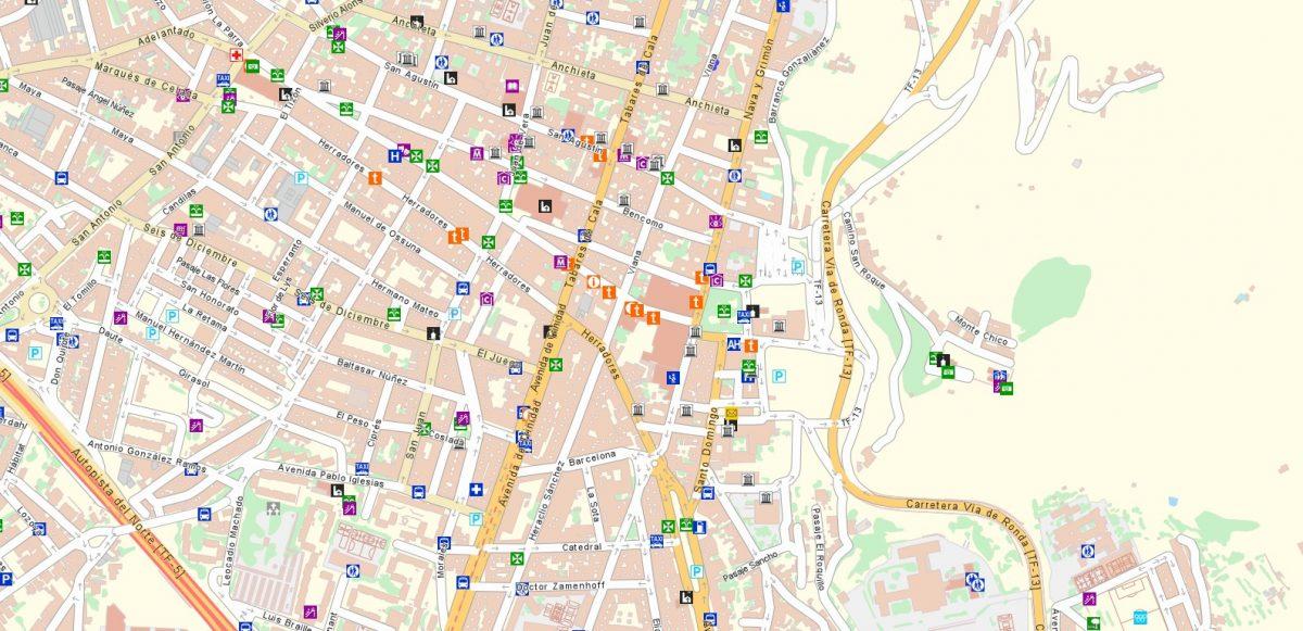 Mapa Callejero de Grafcan