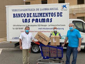 Entrega de alimentos en el Hospital Juan Carlos I