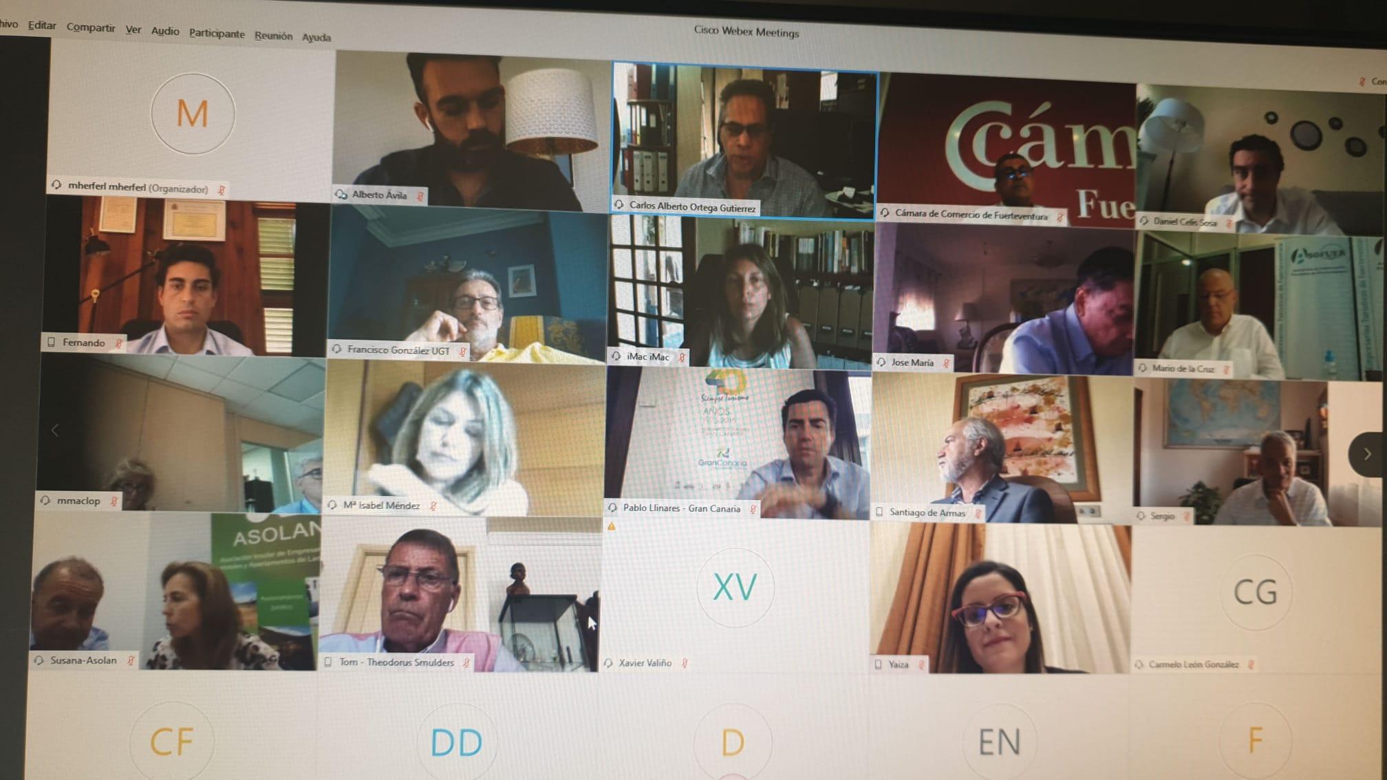Reunión Consejo Canario de Turismo