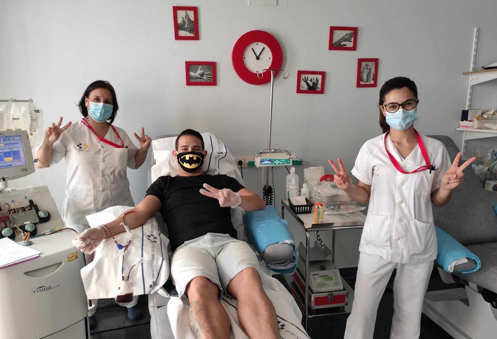 Punto de extracción de sangre