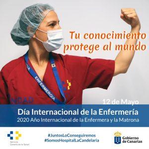 Cartel del Hospital de La Candelaria