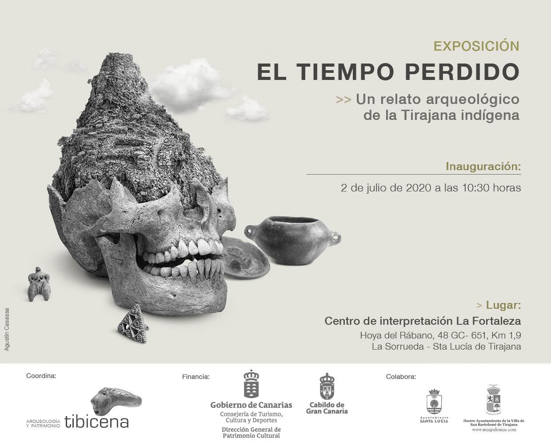 La exposición 'El tiempo perdido' recupera el relato arqueológico de la Tirajana indígena
