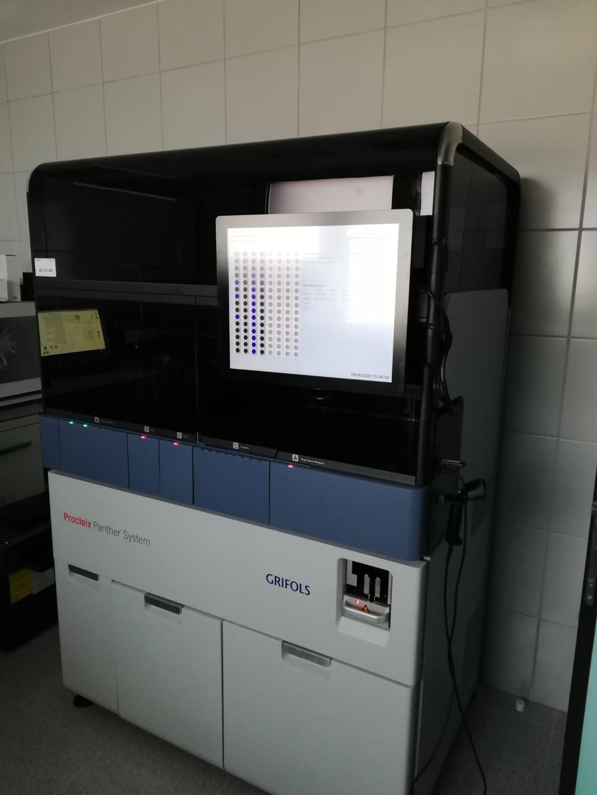 Imagen del robot instalado en el Hospital Gral de Fuerteventura