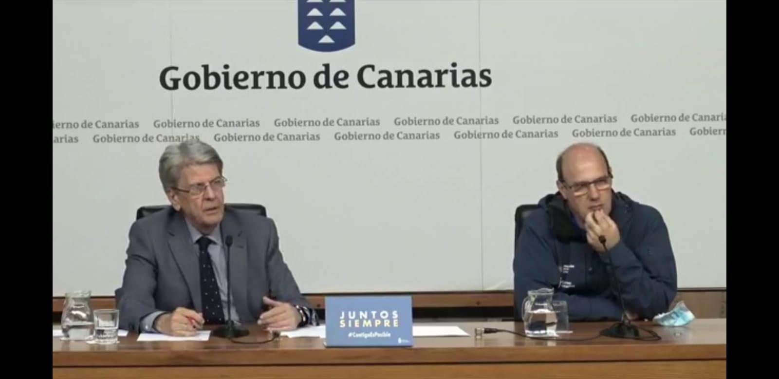 Julio Pérez y Florencio López en la presentación de la campaña de prevención y extinción de incendios forestales 2020