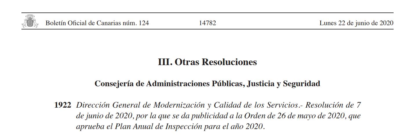 Plan Inspección Modernización 2020