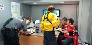 Agentes de seguridad y emergencias se coordinan desde el PMA