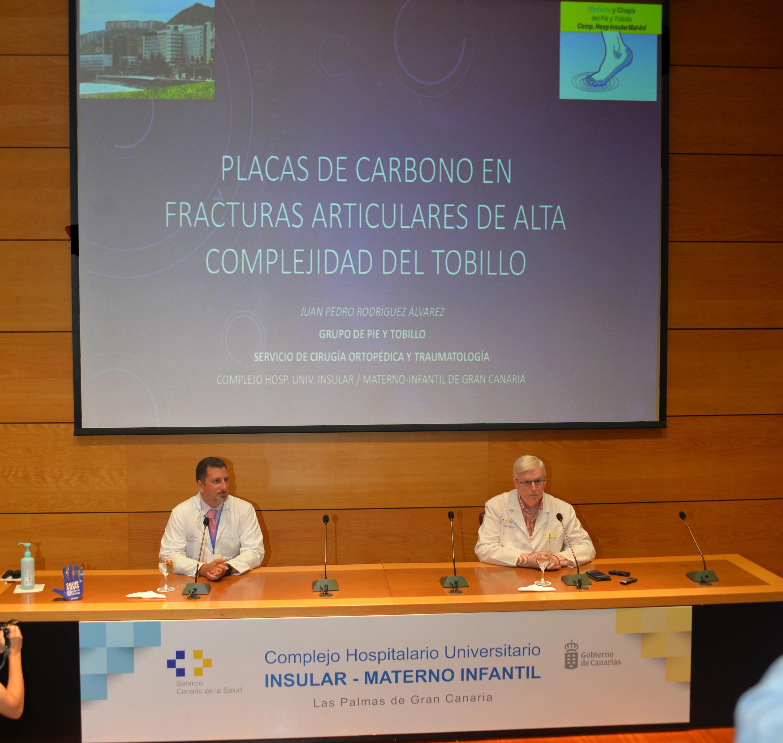 El Hospital Insular utiliza placas de carbono en el tratamiento de fracturas de alta complejidad en el tobillo