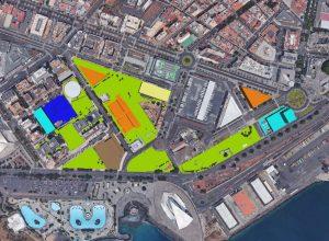 Plano de la Ciudad de la Justicia de Tenerife