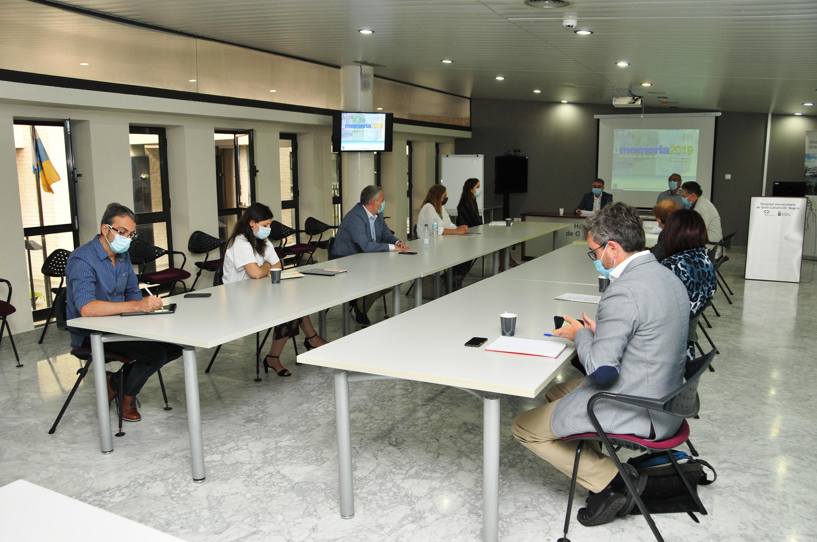 Momento de la reunión mantenida por la Comisión de Participación Hospitalaria