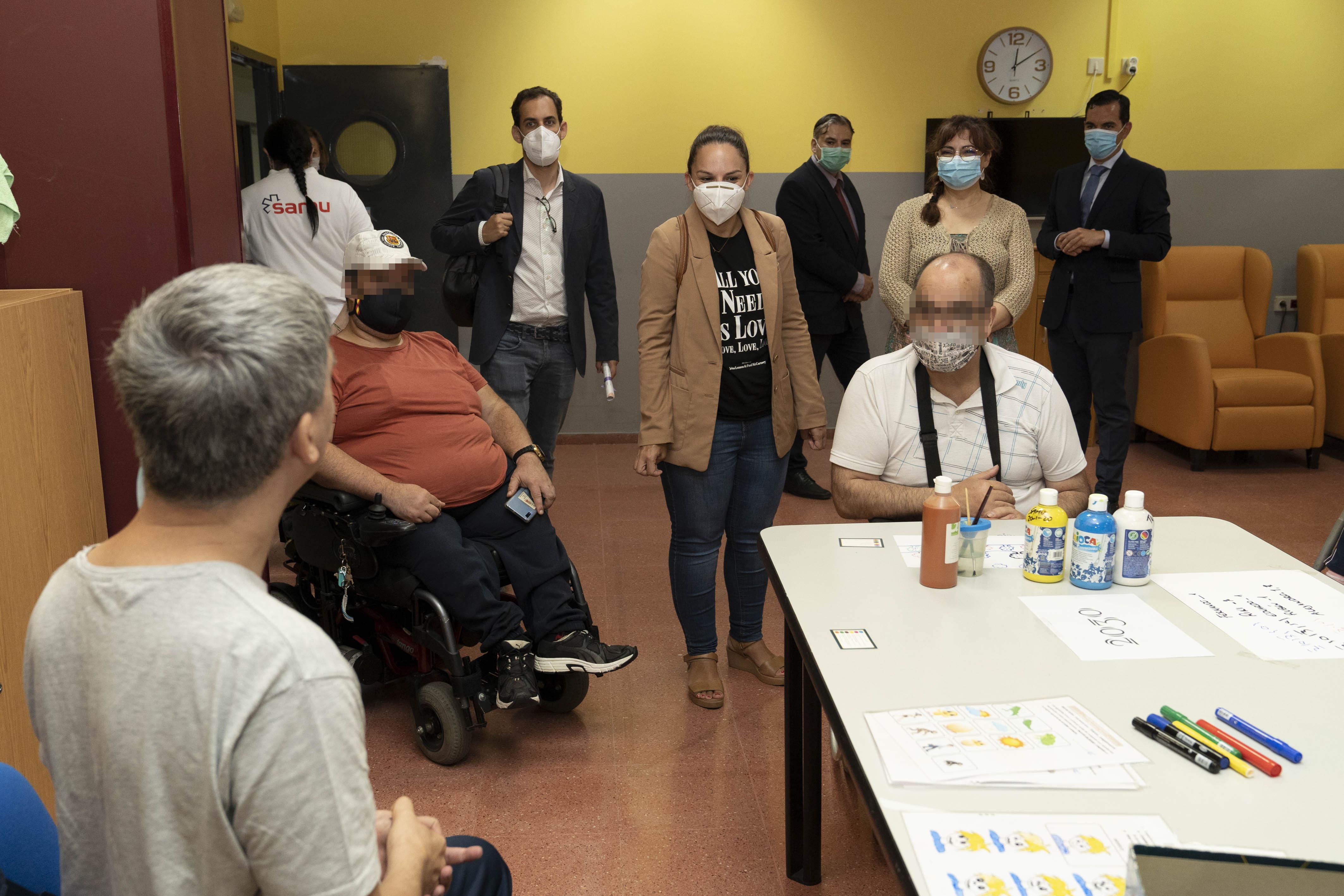 Noemí Santana destaca la labor de los centros de discapacidad durante la pandemia