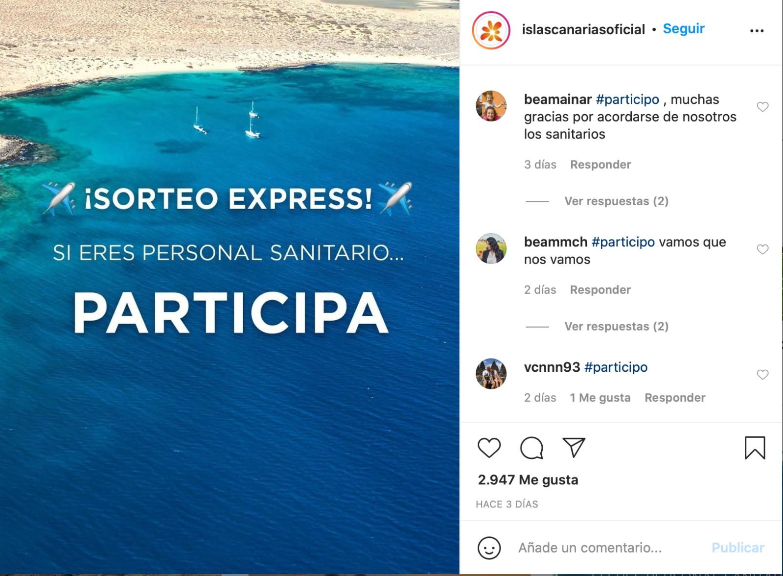 """Los profesionales sanitarios ganadores del sorteo """"Entra en fase tranquilidad"""" disfrutarán vacaciones en Canarias"""