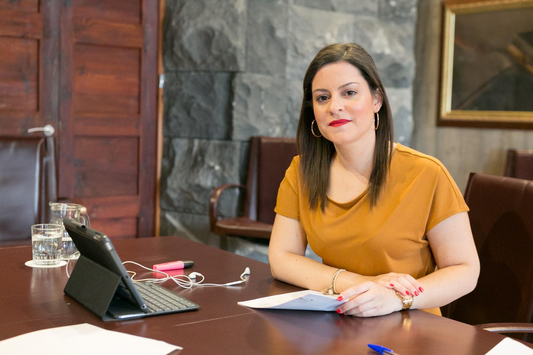 La consejera Yaiza Castilla
