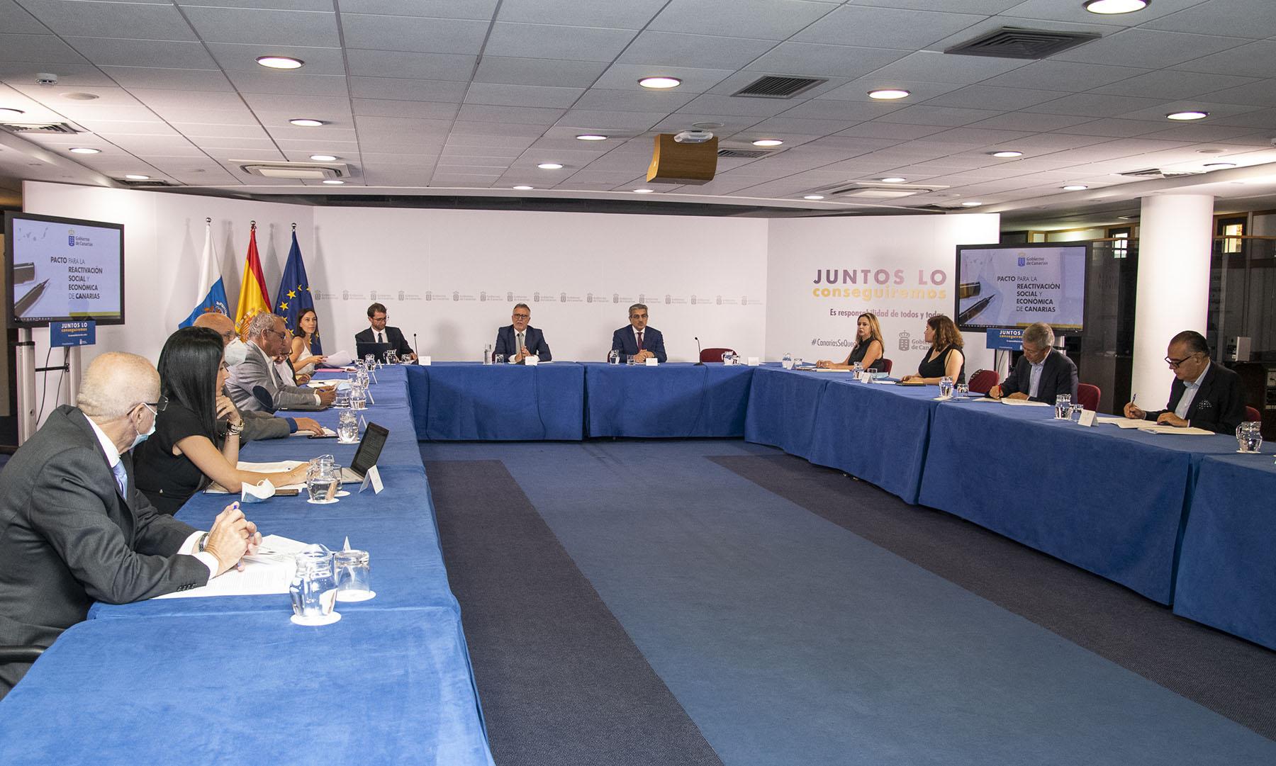 Mesa de seguimiento del Pacto de Canarias