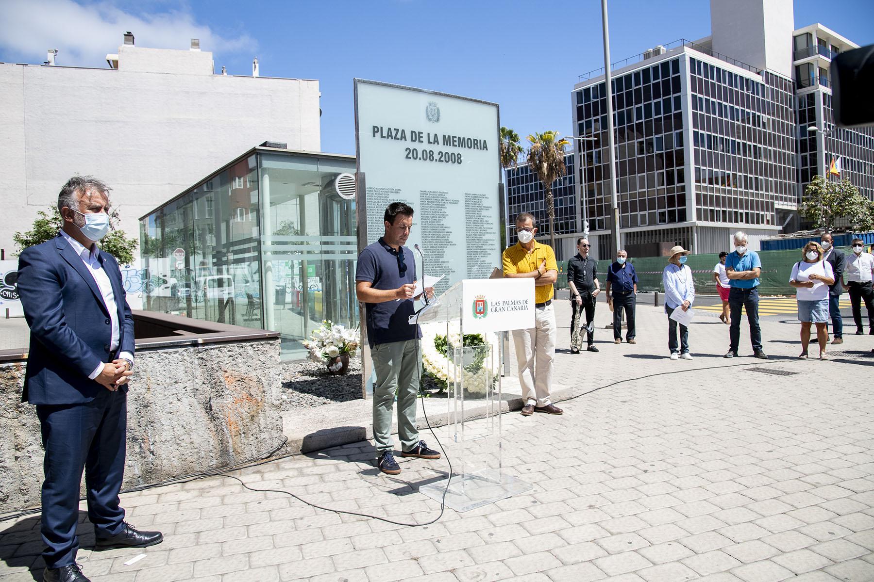 Acto de homenaje a las víctimas del accidente de Spanair
